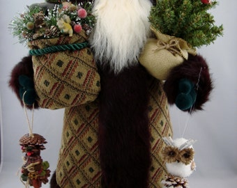 Woodland Friends Santa- Santa Claus Doll
