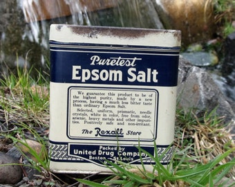 Popular items for old containers on etsy for Epsom salt in french