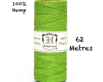 Hemptique Lime Green Hemp Twine 62.5m