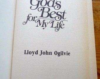 Vintage Book - God's Best For My Life