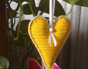 Crochet heart Valentine gifts Valentines day heart Valentine's day decorations