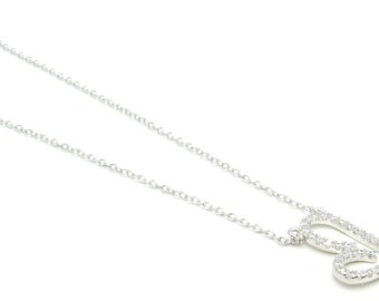 Heart Necklace Sterling Silver  Free Shipping ! Free Gift Bag !