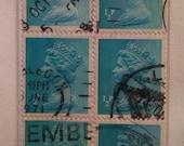 1971 Queen Elizabeth II British Stamp Bookmark
