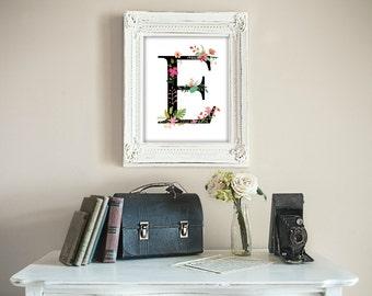 Letter E, Monogram