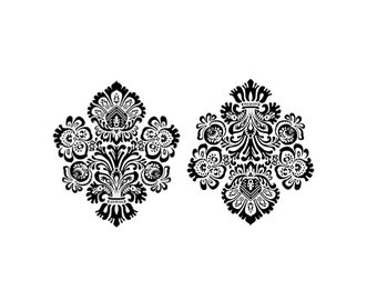 "Victorian Damask Temporary Tattoo - ""Wefts & Warps"""