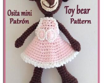 Amigurumi pattern PDF toy bearn - patrón osita mini amigurumi