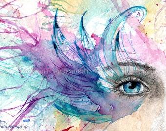 Fantasy art print - Venezia eye - 21x29cm fine art print