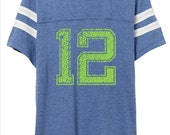 Seattle seahawks 12 man men's and women's vintage tee shirt with Team Name  Any NCAA, NFL, NBA, nhl, mlb name available