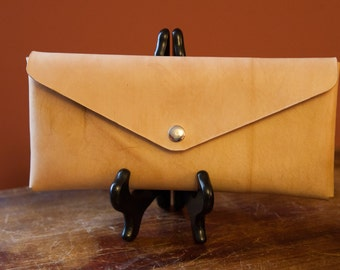 Handmade Leather Clutch with Magnetic Closure