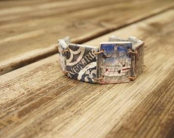 Maritime bracelet, Nautical bracelet, Sailing bracelet, Naval jewelry,  Medieval bracelet, Virgin Mary, Ave Maria, Christian bracelet