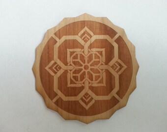 Flower Cube Wooden Sticker