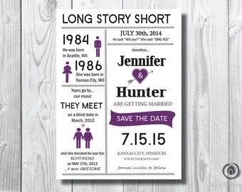 Save The Date Wedding//DIY Printable//Long Story Short