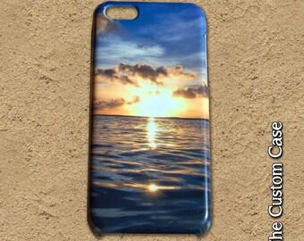 Sunset Iphone Case, beach Iphone Case, Ocean Iphone Case, Iphone 4/5/5c/6/6+, Samsung Galaxy S3/S4/S5/S6/S6 Edge