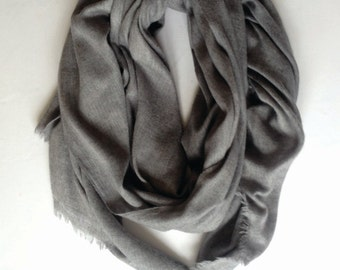 Light Grey Cashmere Scarf