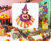 Halloween Witch Vintage Style Greeting Card (free shipping)