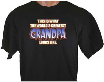 This Is What The World's Greatest Grandpa Looks Like Cute Family T-Shirt