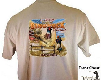 All American Outfitters Ringneck Pheasant Hunting Hide and Seek Hunter SportsmanT-Shirt