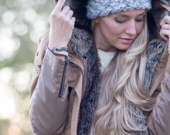Knit Headband-Ear warmer-Gift for her-Knitted Headband-Valentine Gift-Women's Fall/Winter Fashion Accessory,Stocking Stuffer, Headband