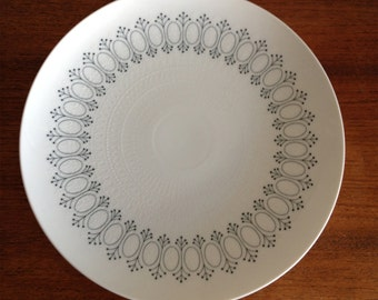 Rosenthal White Porcelain Plate, Romance with Black motif