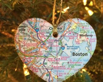 Boston Map Ornament