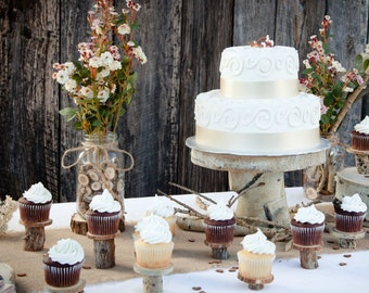 10 Rustic Cupcake Stands ~ Individual Cupcake Stands ~ Spring Wedding