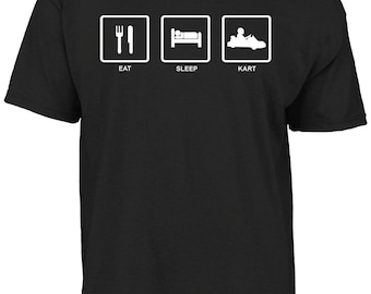 Eat sleep kart t-shirt