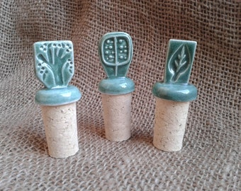 Ceramic BOTTLE STOPPERS and Cork