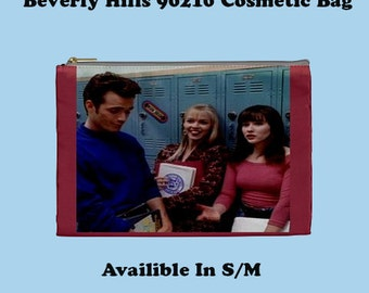 Beverly HIlls 90210 Cosmetic Bag, Cosmetic Bag, Make Up Bag, Bevrly HIlls, 90's, 90's Tv,  Tv Shows, TV Show Bags , High school,