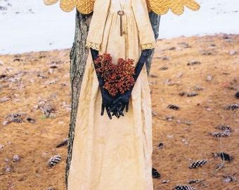 Primitive Folk Art Black Angel Doll E Pattern