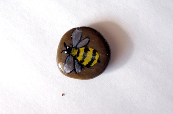 Items similar to bee decor bumble bee stone bee garden for Bumble bee mural