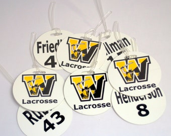 Monogrammed Team or Group Round Bag Tags