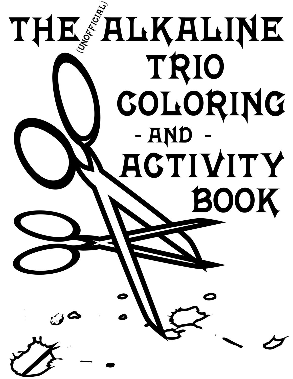 Alkaline Trio Alk3 Coloring And Activity Book For The