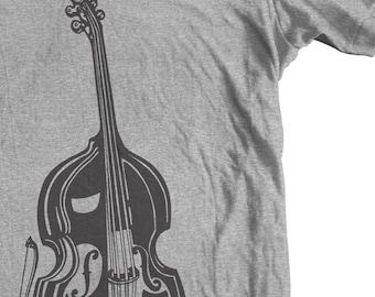 DOUBLE BASS INSTRUMENT Upright Bass T shirt.  tee. Gift for a Musician Teacher Student. Orchestra Jazz Blues  Rockabilly Band Music Bass