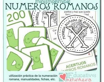 Imprimible Números Romanos -español-