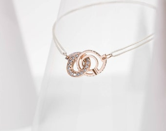 "Necklace patterns ""9"" openwork / red gold & diamonds ""Ennead"""