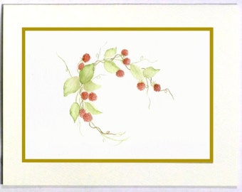 Note Cards, Thank You Cards, Thank You Note Cards, Blank Note Cards, Blank Cards, Raspberries