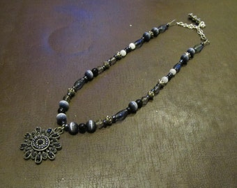 Majestic Gray Necklace,Bracelet, and Earrings Set