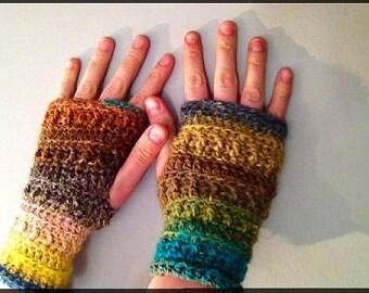 Self Striping Textured Handwarmers