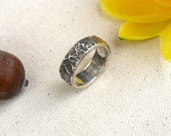 Old Spanish Lace Band Ring Size 7 in Pure Fine Silver
