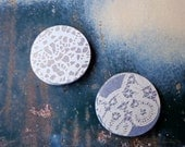 Vellum Lace See Thru Stickers, Set of 20 Envelope Seals, Frosted Blue, Wedding Invitations Stickers, Handmade Packaging Lace Sticker Seals