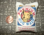 Miniature Premium Hogwash Stuffed Feed Bag  1/12 Scale Feed Sack Barn