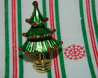 Christmas Tree Pin, Christmas Tree Brooch, Pin, Holiday Fashion Jewelry, Christmas Tree, Holiday Christmas Tree Pin Lot #6