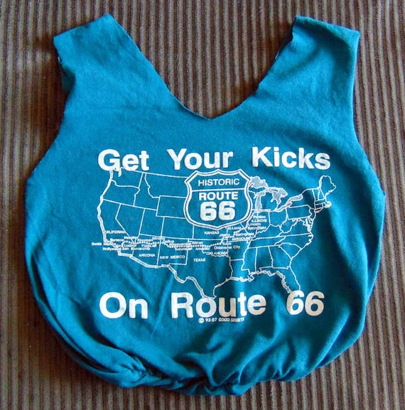 Route 66 Upcycled T-shirt Tote Bag