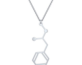 Methamphetamine Necklace - Silver