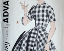 Vintage 60's Advance 2782 Sewing Pattern, Teen Dress, Size 12, 32 Bust