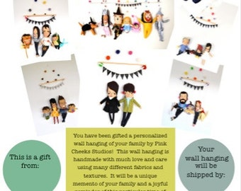 Gift Certificate for Wall Hanging (Family Wall Hanging)
