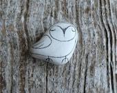Beach Pottery Owl - Totem, Animal Medicine, Spirit Animal, Calm, Wisdom, Wise, Integrity, Peace, Peaceful