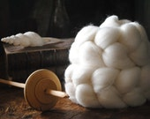 Falkalnd Undyed Combed Top Natural Wool Roving Spinning Felting fiber - 4 oz
