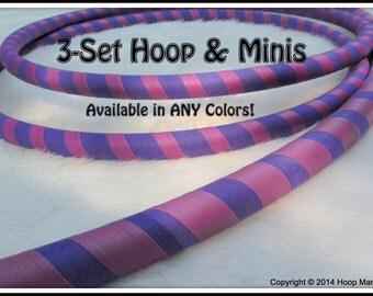 ULTRAGRIP  3-PACK - Hula Hoop & Mini Twins BOTH! - Choose Any Colors and Sizes.