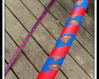 SUPERMAN 'UltraGrip' KIDDO Hula Hoop! - Choose ANY Accent Color. Collapsible!
